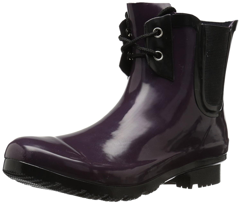 Roma Boots Women's Chelsea Lace-up Rain Boots B06XC6DDT7 9 B(M) US|Eggplant