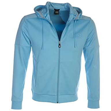 22b696b48 Hugo Boss Boss Saggy Hooded Sweat Top In Alaskan Blue - Blue - Large: Amazon .co.uk: Clothing