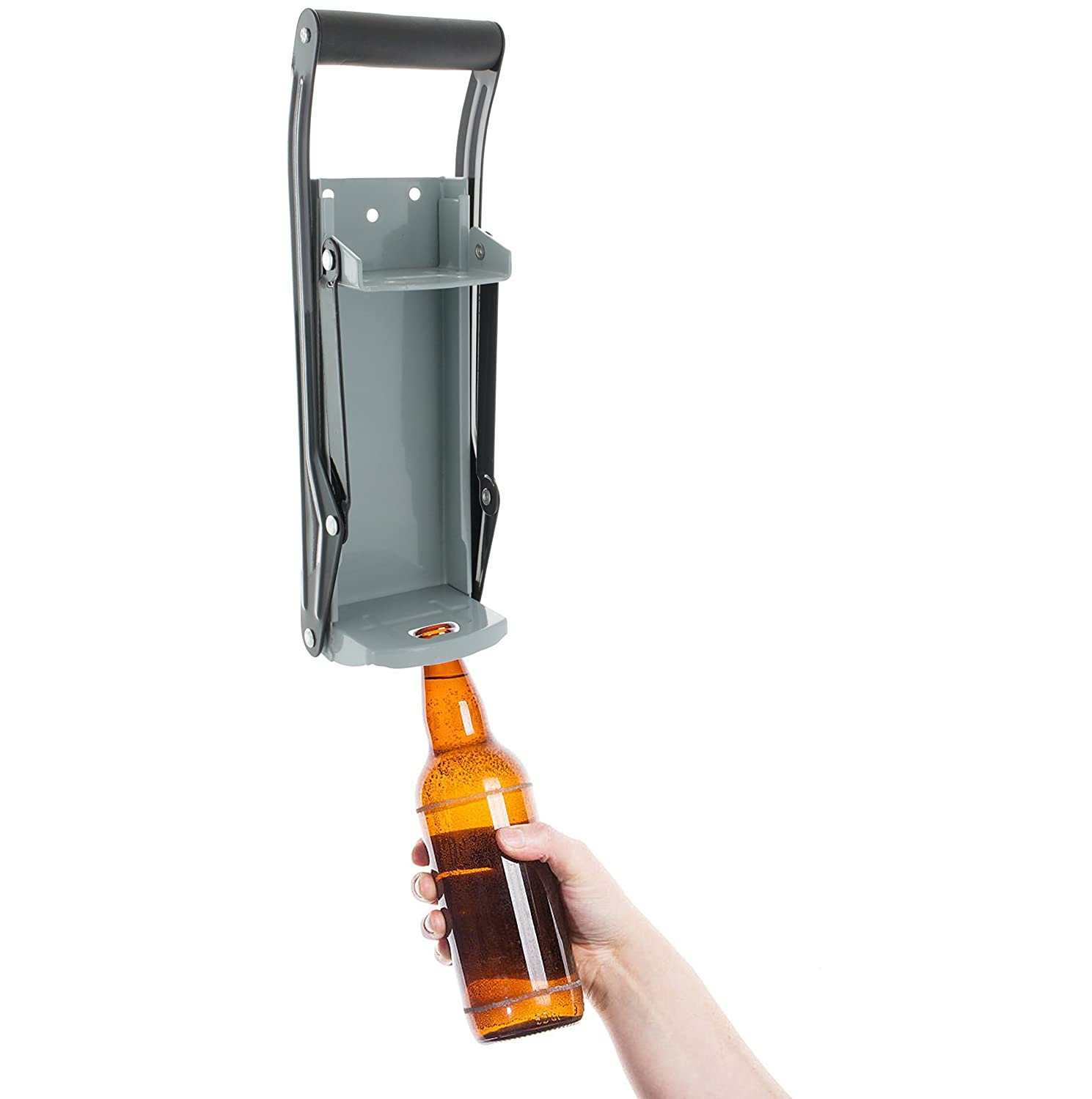 Wall Mounted Aluminum Can Crusher With Bottle Opener Eco