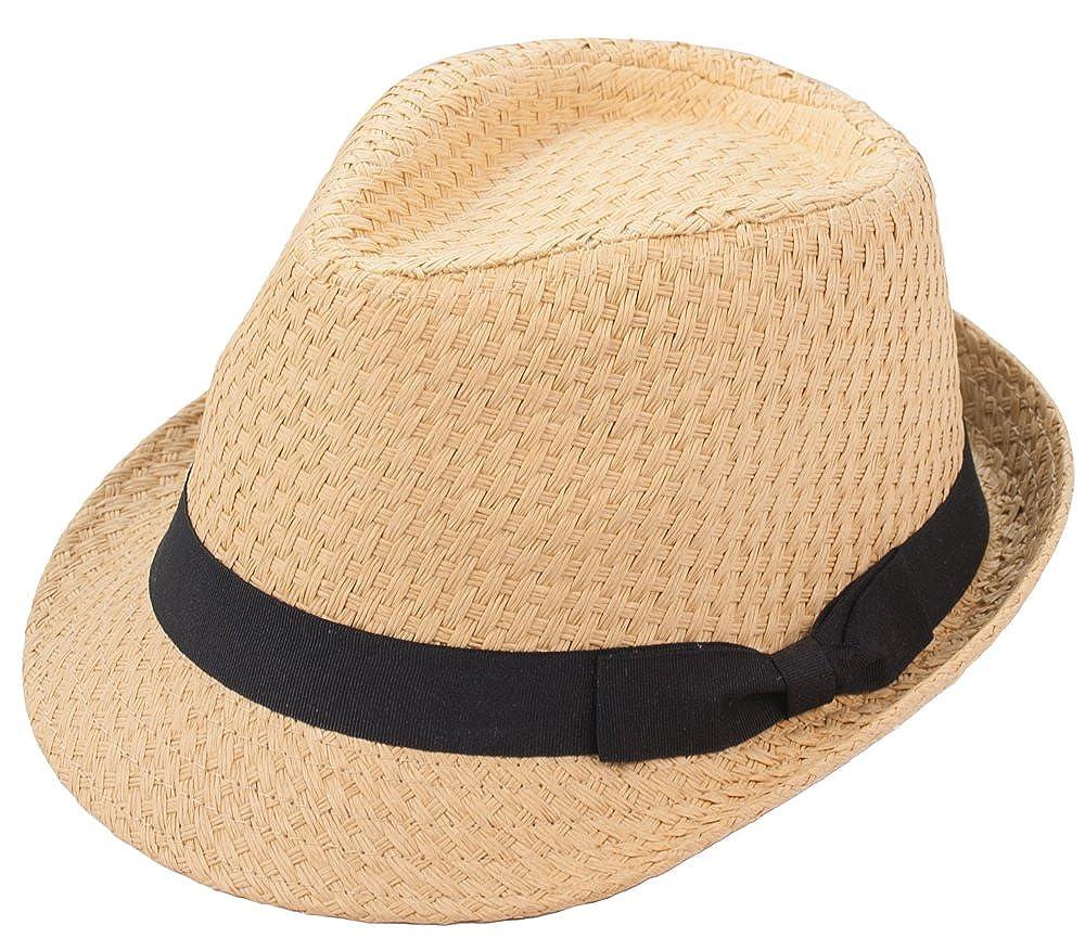 Amazon.com  Milani Fedora Straw Hat with Grosgrain Ribbon Bow  Clothing 44e3f63c45b