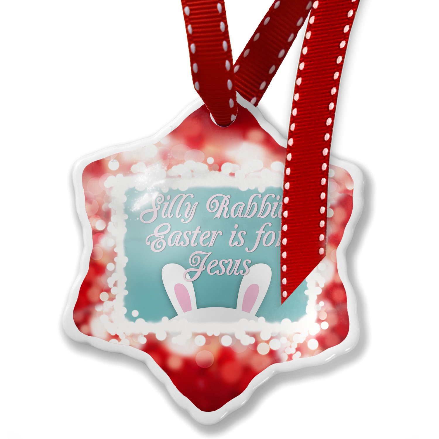 Amazon.com: Christmas Ornament Silly Rabbit, Easter is for Jesus ...
