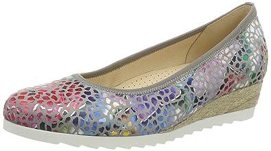 Gabor Shoes Comfort Sport, Ballerines Femme, Multicolore (Silber Jute), 42 EU