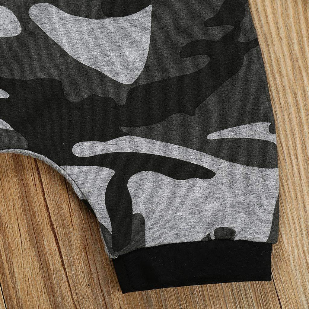 Pantaloni Mimetici Bambino Outfits Sets Topgrowth Tuta Neonato Set Bambini Canotta Felpa con Cappuccio Bimbo Maglietta Senza Maniche Tank Top