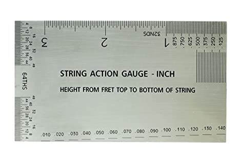 Amazon Bangdan String Action Setup Gauge Inch Ruler With