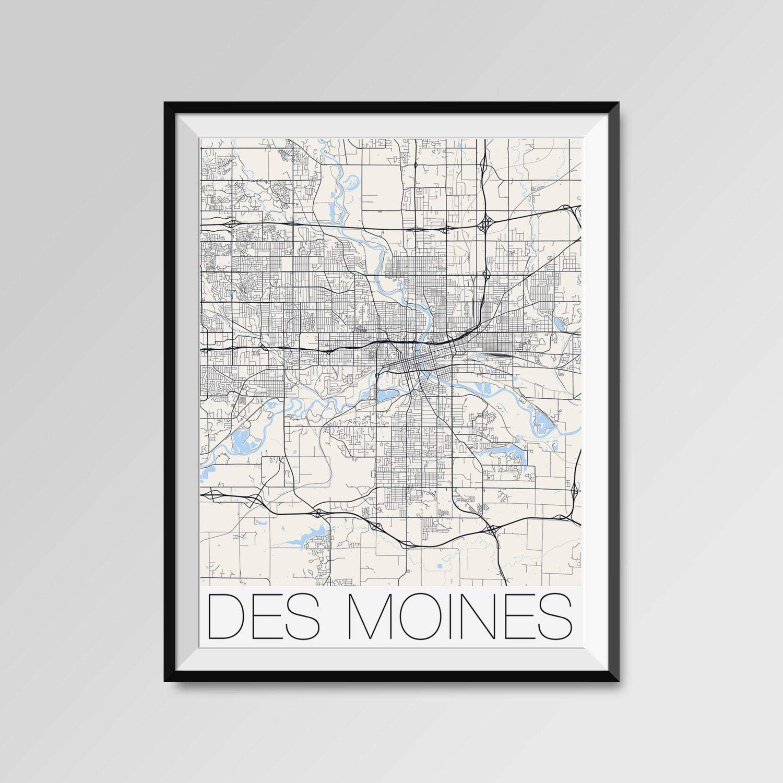 Amazon.com: Les Connie DES Moines City Map Print Modern City ... on vancouver city map, wright county city map, okemah city map, dumas city map, duvall city map, bainbridge island city map, fife city map, pierre city map, newton city map, ferguson city map, council bluffs city limits map, grimes city map, lowell city map, clive city map, black hawk city map, st. louis city map, indianapolis city map, tulsa city map, minneapolis st paul city map, el paso city map,