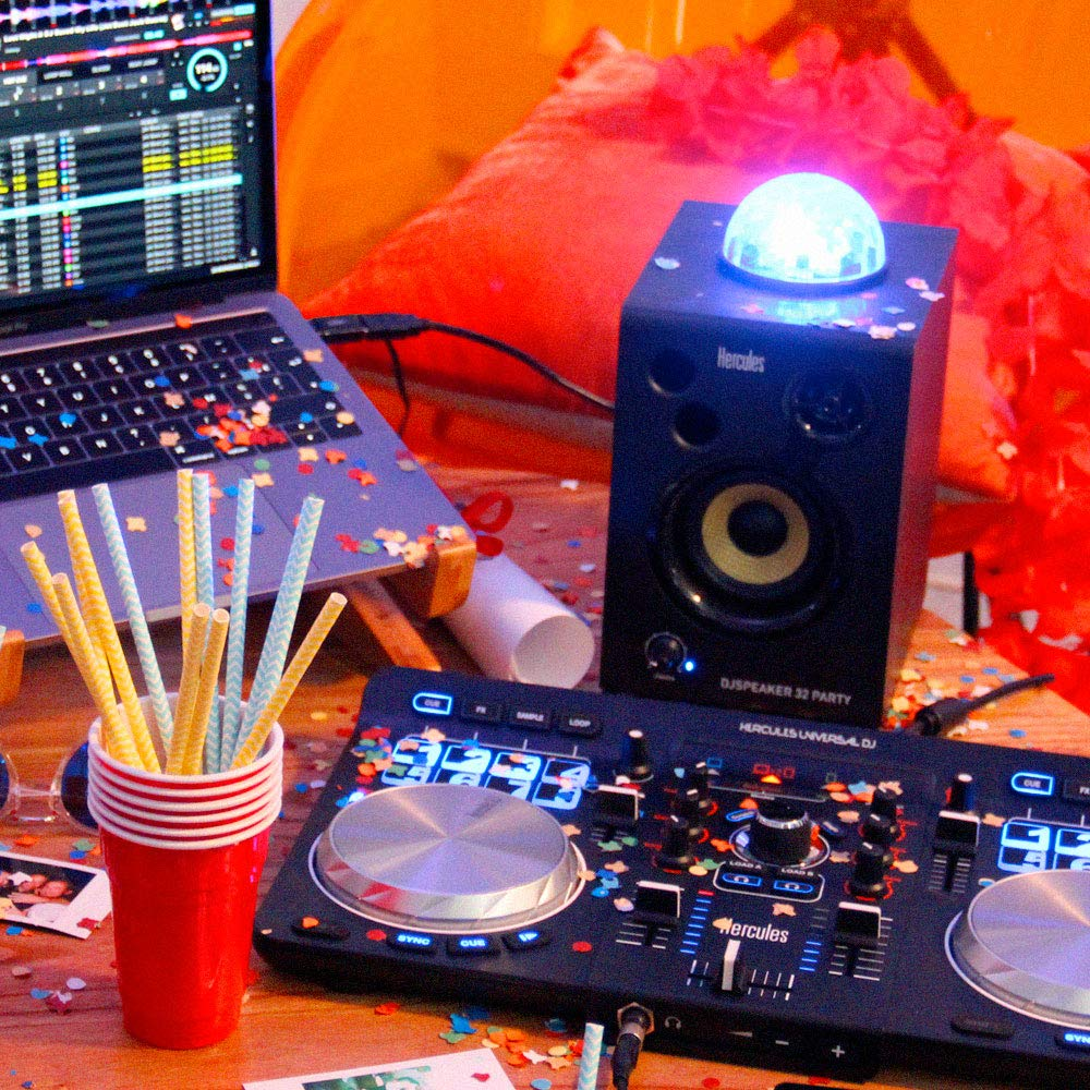 Hercules DJSpeaker 32 Party | 15-Watt RMS monitor speakers with tempo-synced light show by Hercules DJ (Image #4)