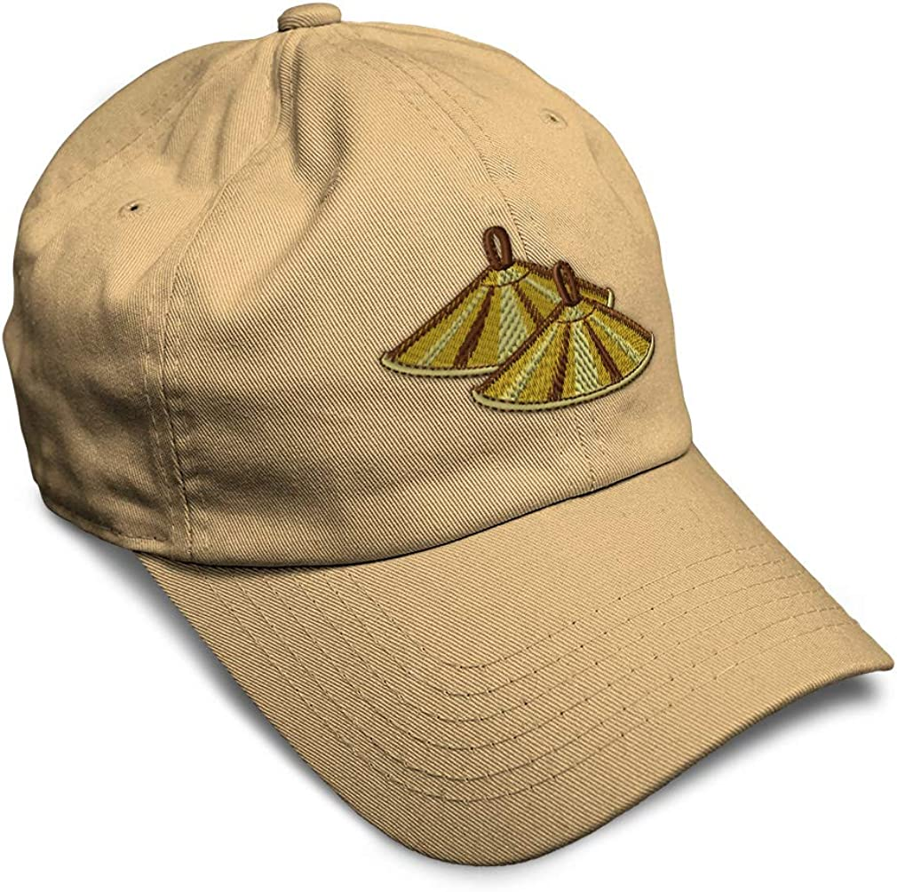 Custom Soft Baseball Cap Cymbals Style B Embroidery Dad Hats for Men /& Women
