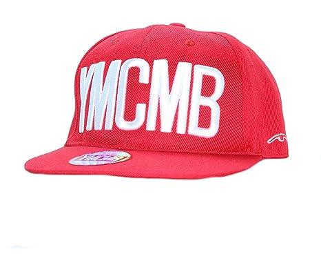 YMCMB-Gorra con visera plana rojo talla única: Amazon.es: Ropa y ...