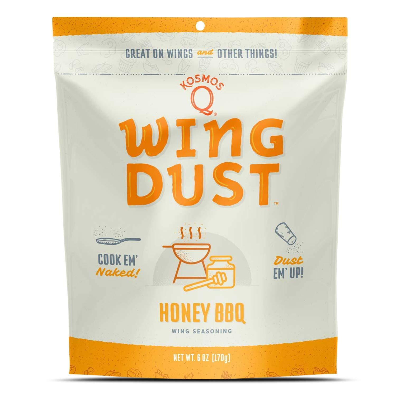 Kosmos Q Honey Barbecue Wing Dust   Chicken Wing Seasoning   Dry BBQ Rub Spice   6 oz. Bag