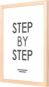 LOWHa Step by Step Wall art with Pan Wood framed Ready to hang for home, bed room, office living room Home decor hand made Wooden color 33 x 43cm By LOWHa