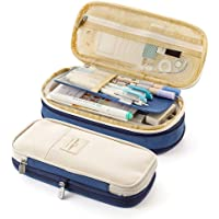 حقيبة قلم رصاص بسعة كبيرة مكتب كلية كلية كلية تخزين كبيرة حقيبة حقيبة حامل الحقيبة مربع مع سحابات للمكتب / المدرسة