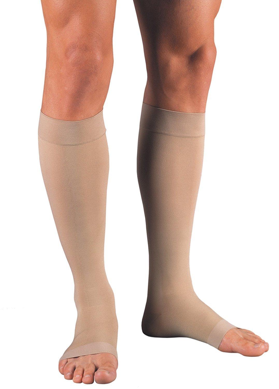 JOBST UltraSheer Knee High 15-20 mmHg Compression Stockings, Closed Toe, Medium, Natural