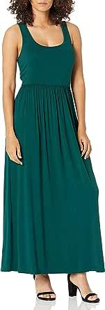 Amazon Essentials - Vestido maxi con cintura y sin mangas para mujer