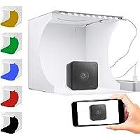 Redlemon Caja de Luz para Fotografía Semi Profesional Portátil, Kit para Estudio Fotográfico de Producto, Iluminación…