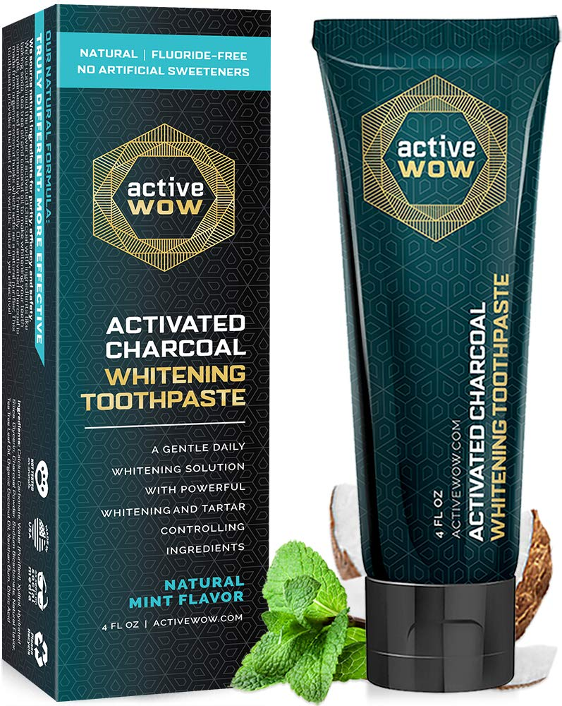 Amazon Com Active Wow Activated Charcoal Toothpaste Teeth