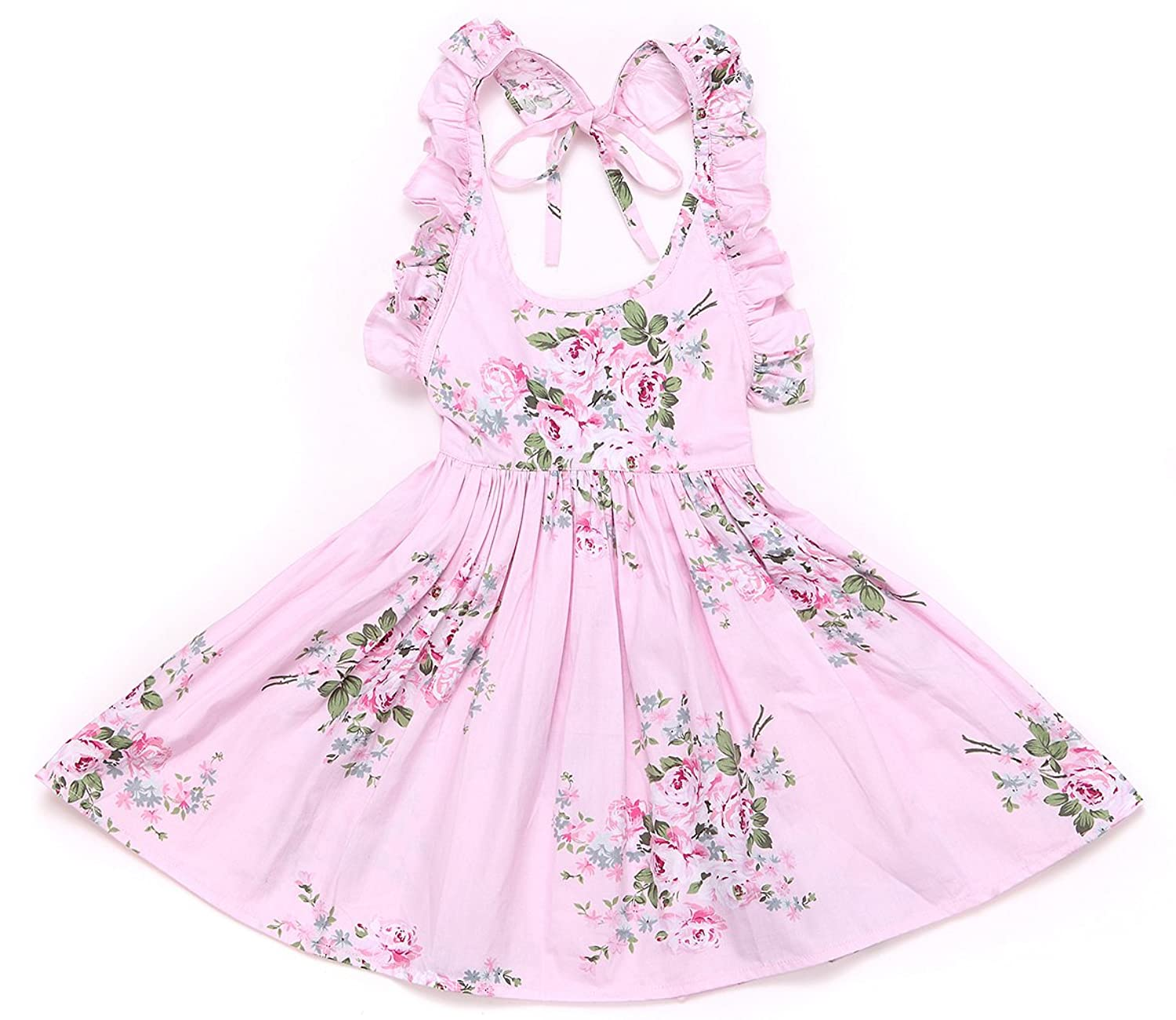 ab688bf1d An adorable vintage print floral cotton girls dress suitable for everyday  wear, please kindly noted: flower ...
