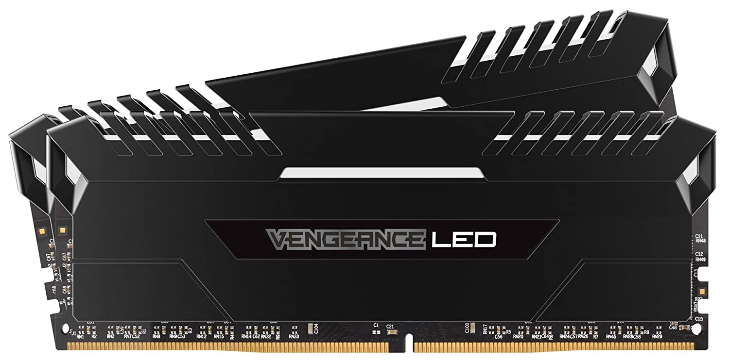 Corsair Vengeance 16GB (2x8GB) DDR4 3000 (PC4-24000) C15 for DDR4 Systems, White LED (CMU16GX4M2C3000C15)