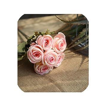 Amazon.com: 6 rosas artificiales para decoración de boda ...
