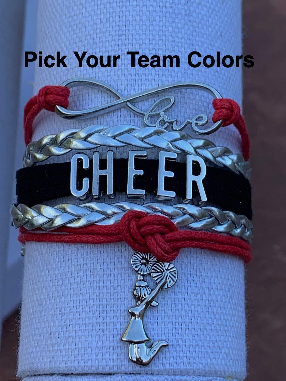 Cheerleader cheerleading necklace keyring bookmark choose colour girls birthday
