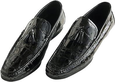 Santimon Black Shoes for Men Tassel