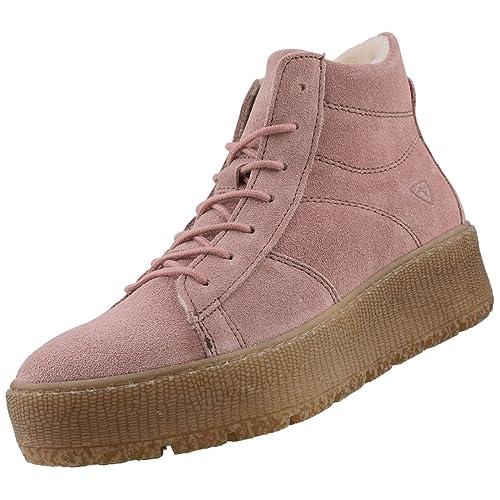 Tamaris Damen Plateau High Top Sneakers gefüttert Rosa