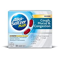 Deals on Alka-Seltzer Plus Cough, Mucus and Congestion Liquid Gels 20Ct