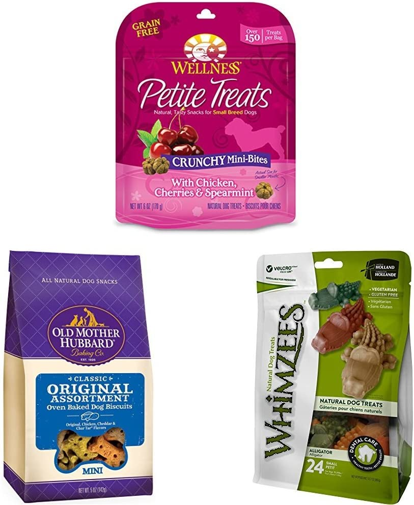 Build Your Own 3-Bag Bundle Of Wellness, Old Mother Hubbard, And Whimzees Small Breed Dog Treats