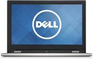 Black Carbon Fiber skin decal wrap skin Case for Dell Inspiron 13 7000 series 2 in 1 7347 7348 7353 13.3