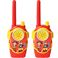 Pack of 2 Little Two Way Radio Transceiver Walkie Talkies Toys Long Range UHF 462.550- 467.7125MHz Best Gift for Kids Outdoor Activities (Red-911)