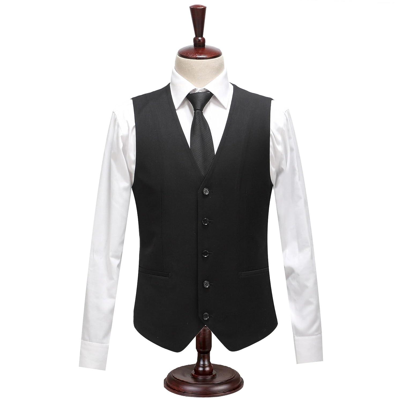 Hmjnklm männer lässige anzüge, Weste, Geschäft - Anzug, Weste, Schwarze Weste, großbritannien,schwarz,170   m