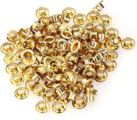 2mm Eyelets Silver Gold  Bronze Scrapbook Leather Craft Doll Accessory 3 Colours