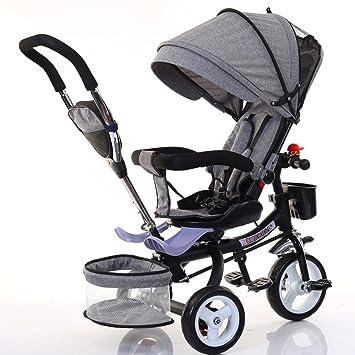 Bicicletas para niños Guo Shop- Triciclo de niños Bicicleta Plegable Cochecito de bebé 1-