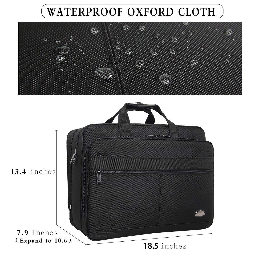 18-18.5 inch Laptop Bag,Water Resisatant Business Laptop Briefcase,Expandable High Capacity Shoulder Bag,Nylon Multi-Functional Shoulder Messenger Bag for Men Fits 17.3 inch Loptop,Computer,Tablet by LYALPH (Image #2)