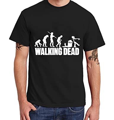 Acen Merchandise The Walking Dead - Men's Licensed Retro Black T-Shirt -  100% Cotton - Ideal Casual Wear or Gift for Anniversary/Fathers