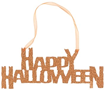 Amazon.com: Happy Halloween Hanging Glitter Sign: Toys & Games