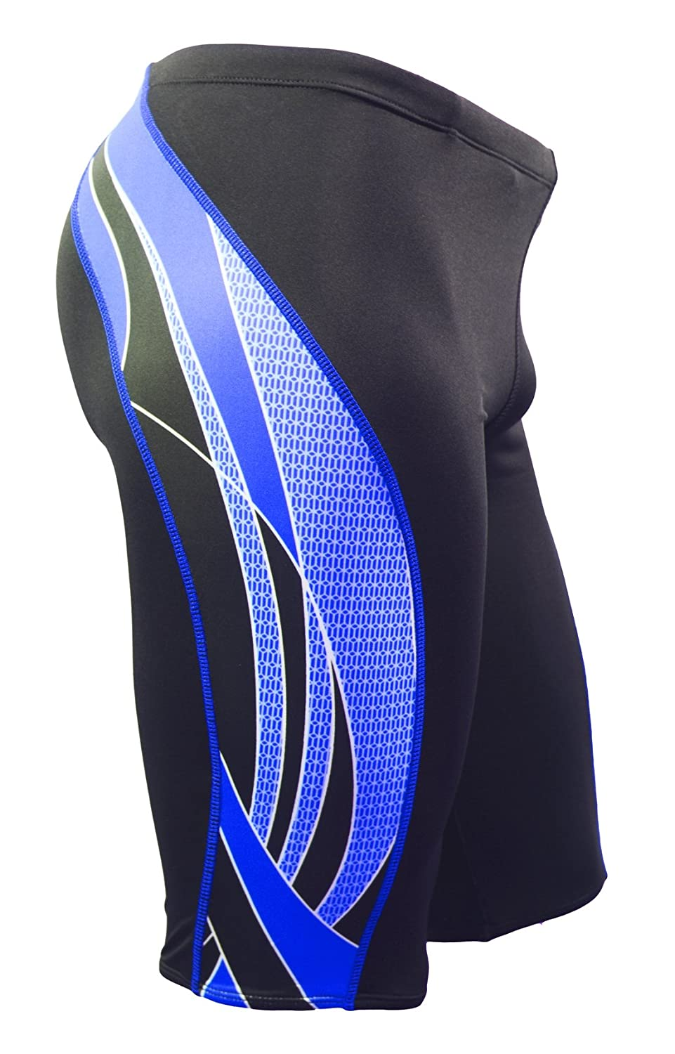22 MJ009 - Black//Blue Adoretex Boys Side Wings Swim Jammer Swimwear