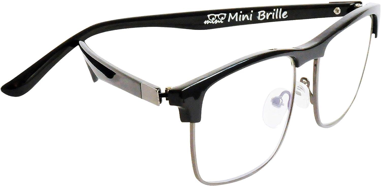 Custodia INCLUSA Nero Occhiali da Lettura per Donna e Uomo +2.5 Diottrie MiniBrille Occhiali con Luce Blu Bloccanti con Lenti Rettangolari Grandi