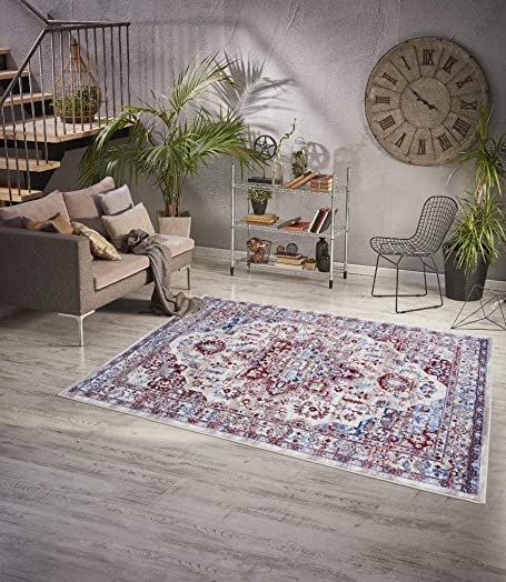 Luxe Weavers Victoria Collection Ivory Oriental 8×10 Area Rug 7525