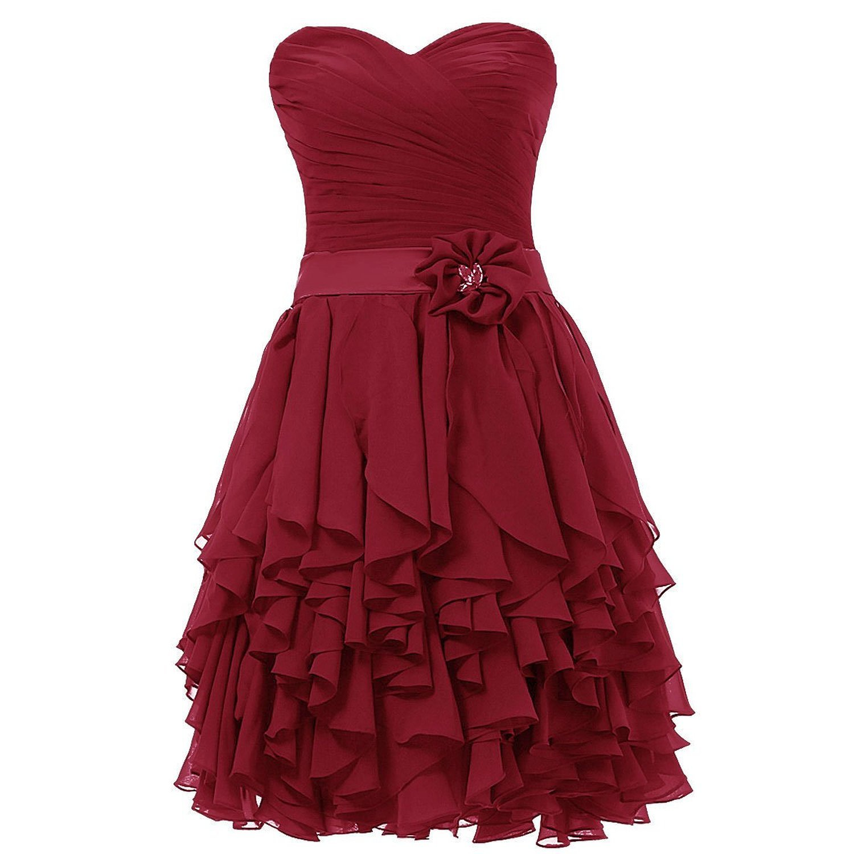 Olidress Women's Short Sweetheart Bridesmaid Dress Prom Dress