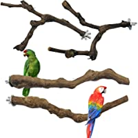 N\A Seasonsky 4 PCS Natural Grape Stick Fork Bird Perch Bird Standing Stick Chewing Bird Toys Natural Grapevine Bird…