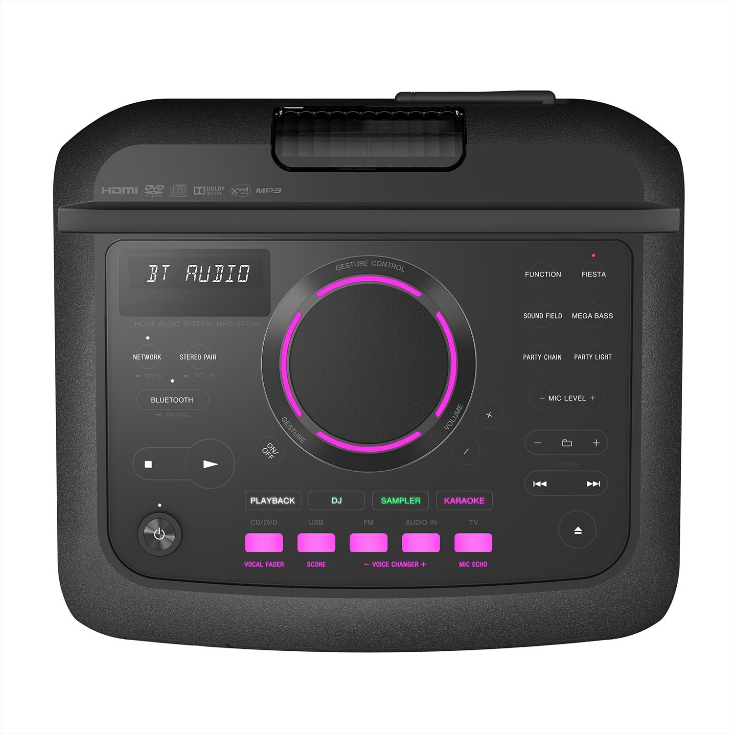 Sony Mhc V77d Portable Personal Dj System With Touch Panel Black Media Panels Home Enhancement Systems Price Buy Online In