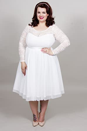 Scarlett & Jo Plus Size Bridal Lace Prom Dress Curve Fashion