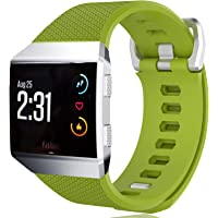 KingAcc Compatible Replacement Bands for Fitbit Ionic, Soft Silicone Fitbit Ionic Band with Metal Buckle Fitness…