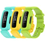 FitTurn Compatible with Fitbit Ace 3 Bands Kids Replacement Silicone Colorful Rubber Adjustable Sport Bands Accessories for A
