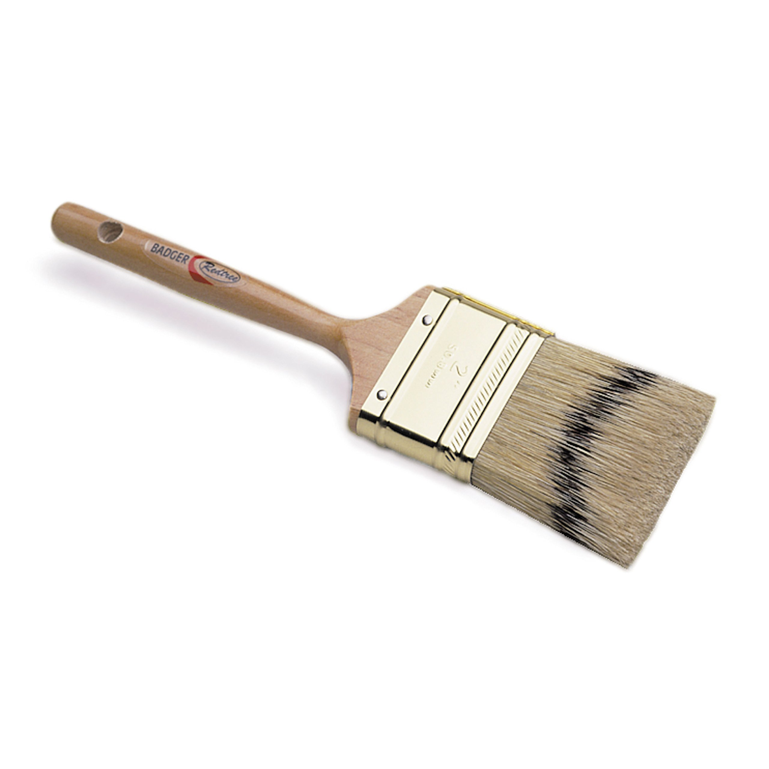 Redtree Industries 10031 Badger Fine Finish Natural Bristle Paint Brush - 2''