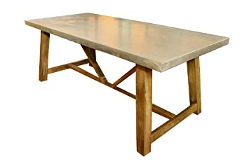 Galvanized Steel Top Dining Table
