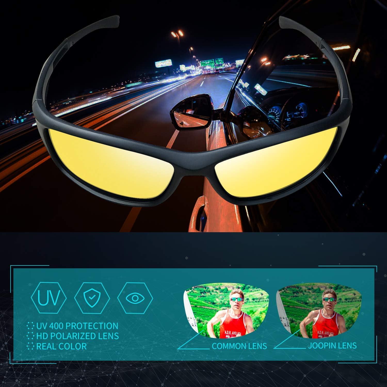 Joopin Gafas de Sol Deportivas Polarizadas para Hombre y Mujer Gafas Ciclismo Protecci/ón UV para Gafas de Conducci/ón Nocturna