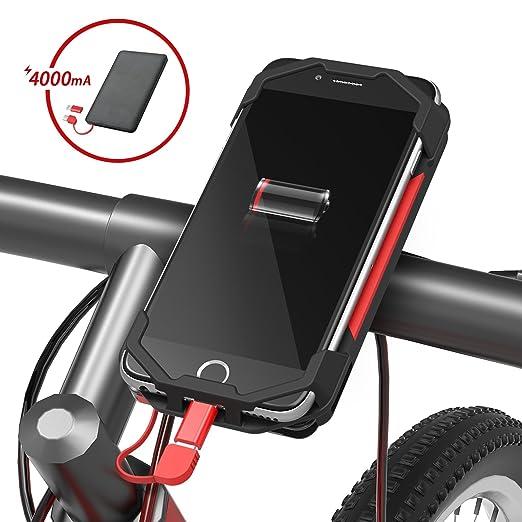 seenda - Soporte para teléfono de bicicleta con banco de energía ...