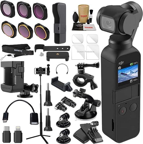 DJI OSMO Pocket 3 Axis Gimbal Camera Bundle with ND & Rotating Polarizer Filter Set