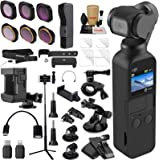 DJI OSMO Pocket 3 Axis Gimbal Camera Bundle with ND & Rotating Polarizer Filter Set, Extension Rod/Selfie Stick, Tripod & Must Have Accessories (15 Items)